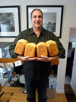 Mike baked 24  loaves of Norwegian Christmas Bread for Christmas 2015.
